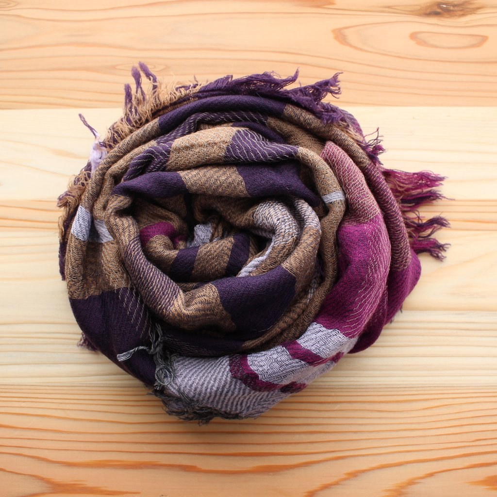 roots shawl MIDDLE wool70% cotton30%