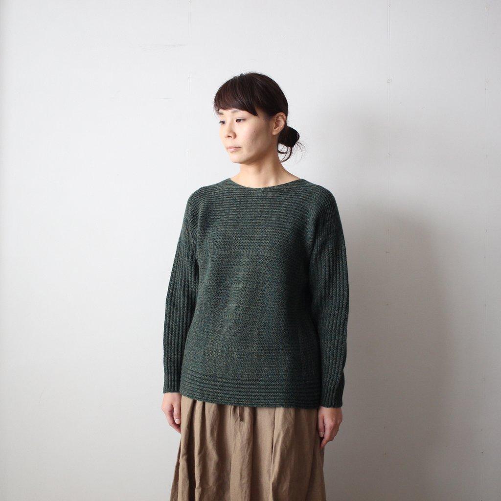 tamaki niime | 玉木新雌 PO knit M wool95% cotton5% #dark green