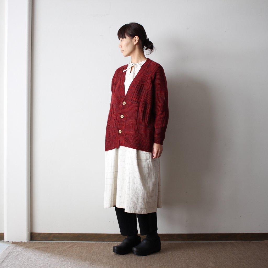 CA knit wool95% cotton5% #burgundy
