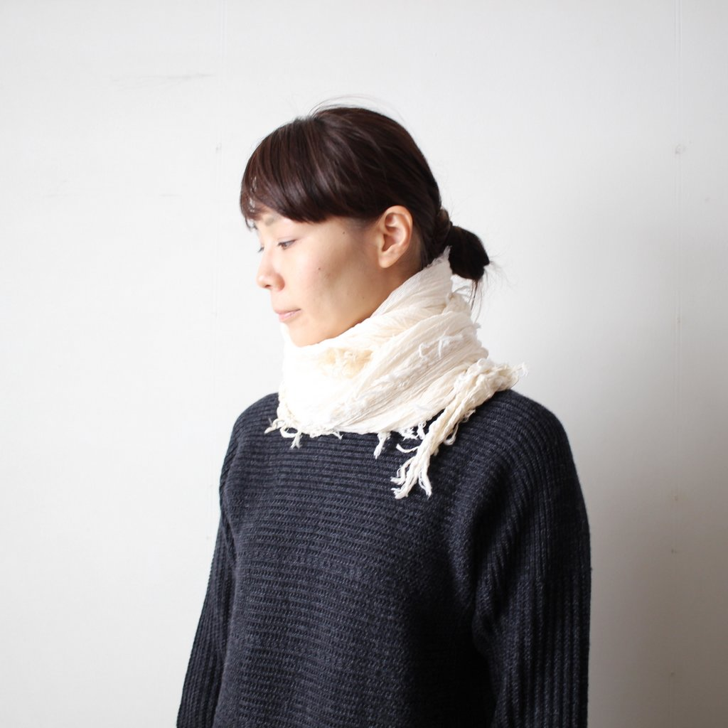 basic shawl 26 BIG cotton100% #white