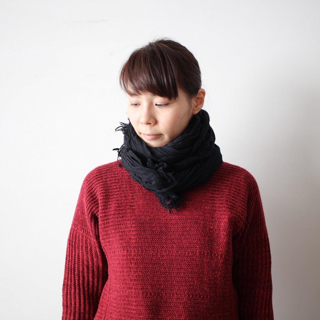 basic shawl 27 BIG cotton100% #black