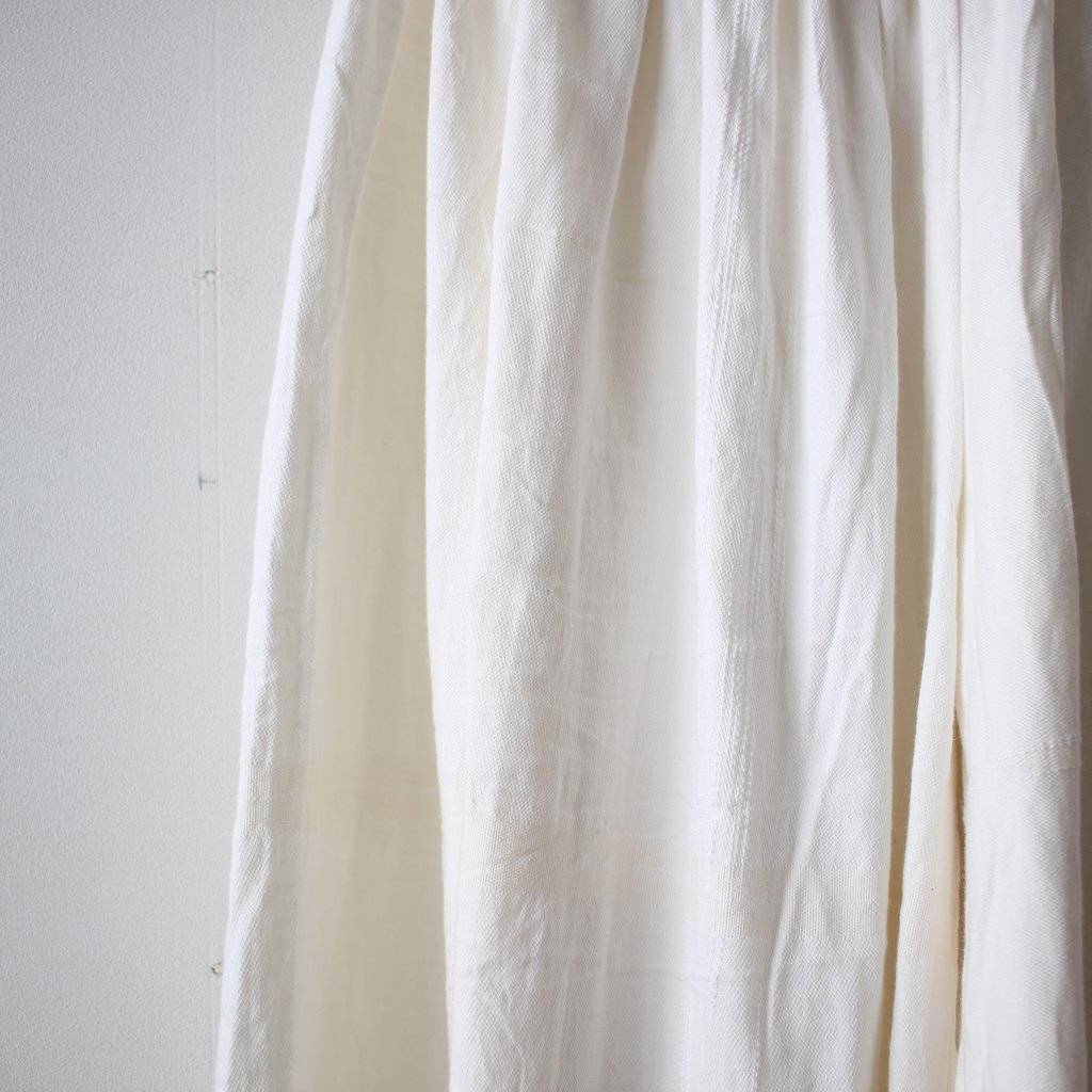 basic wide pants LONG #white