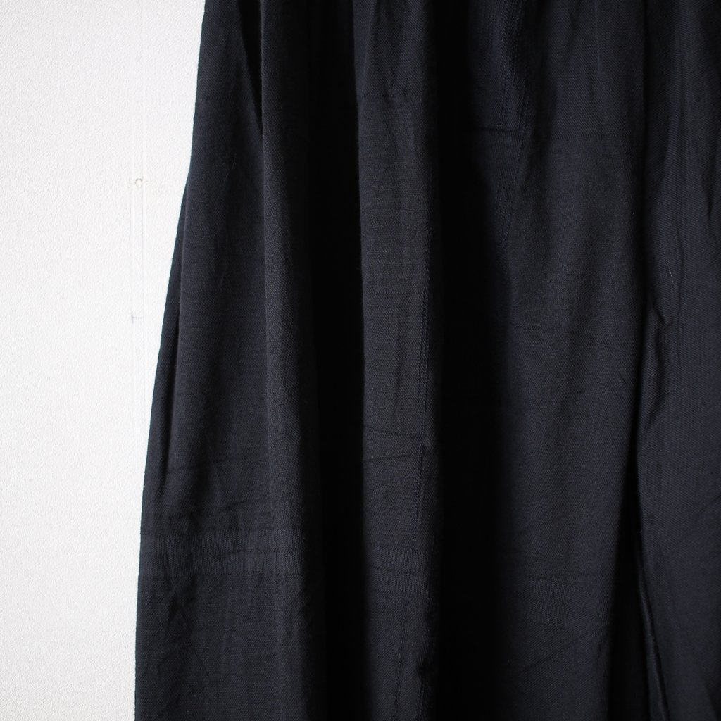basic wide pants LONG #black