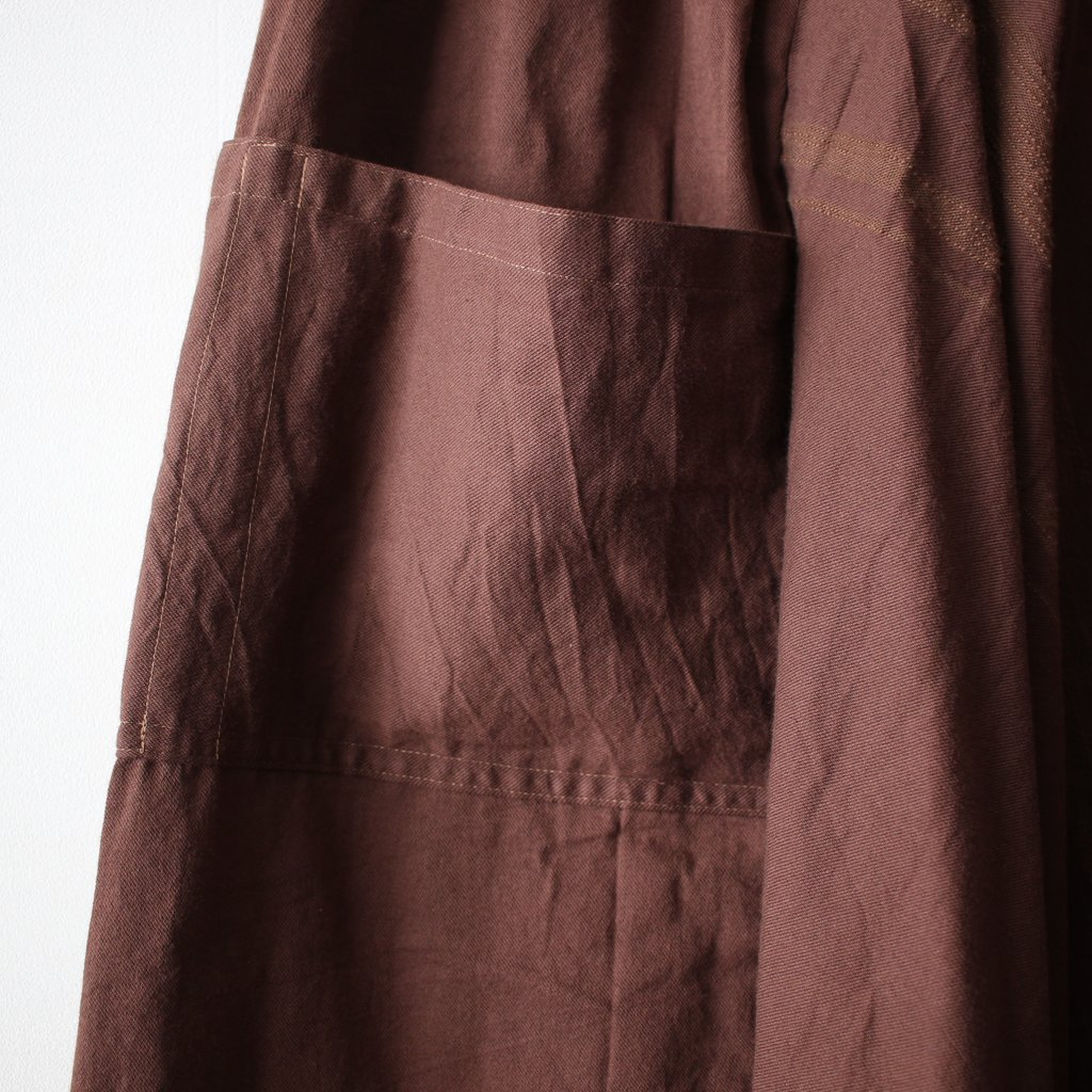 basic chotan skirt LONG #brown