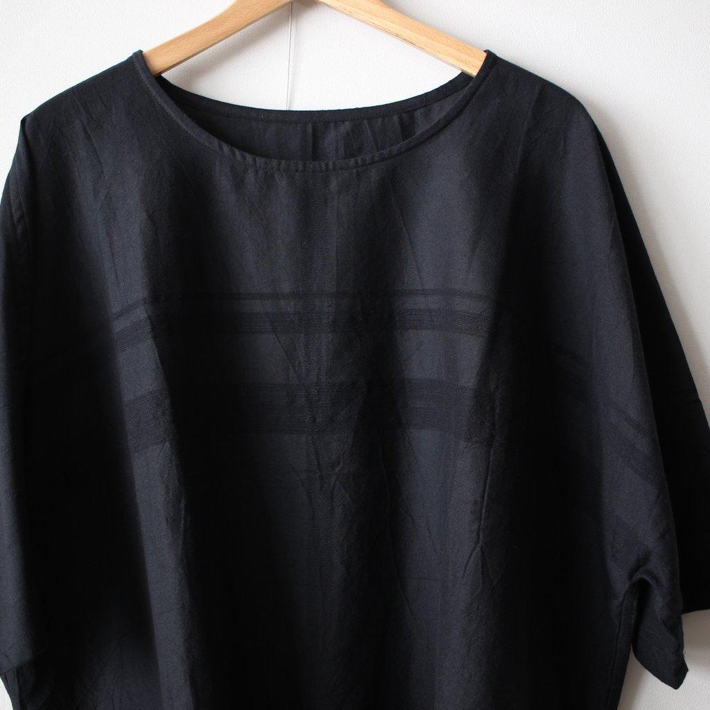 basic fuwa-T HALF SLEEVES #black