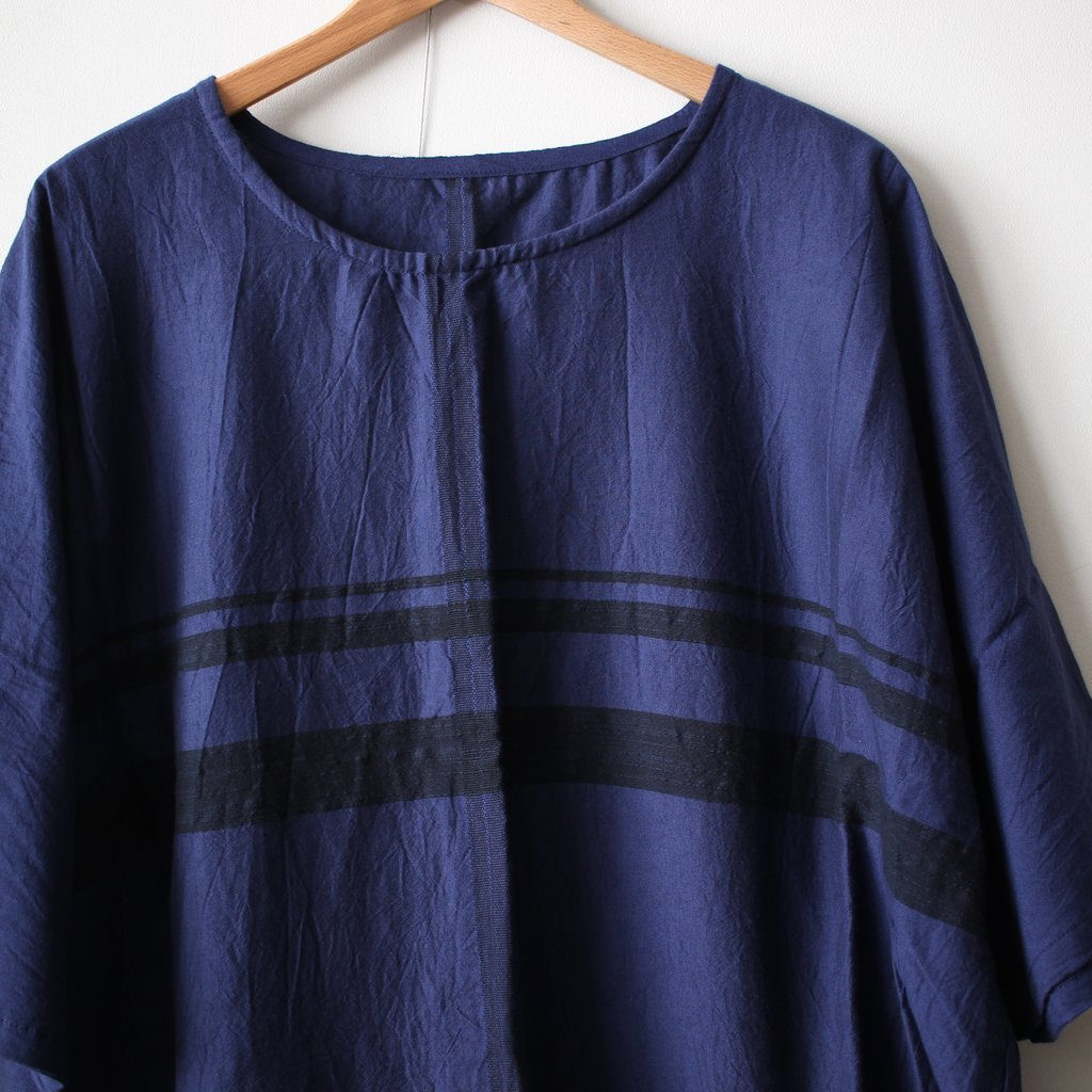 basic fuwa-T HALF SLEEVES #navy