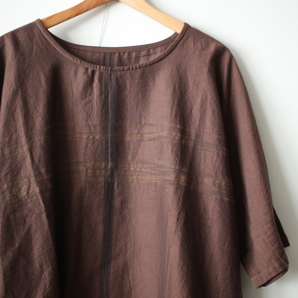 basic fuwa-T HALF SLEEVES #brown