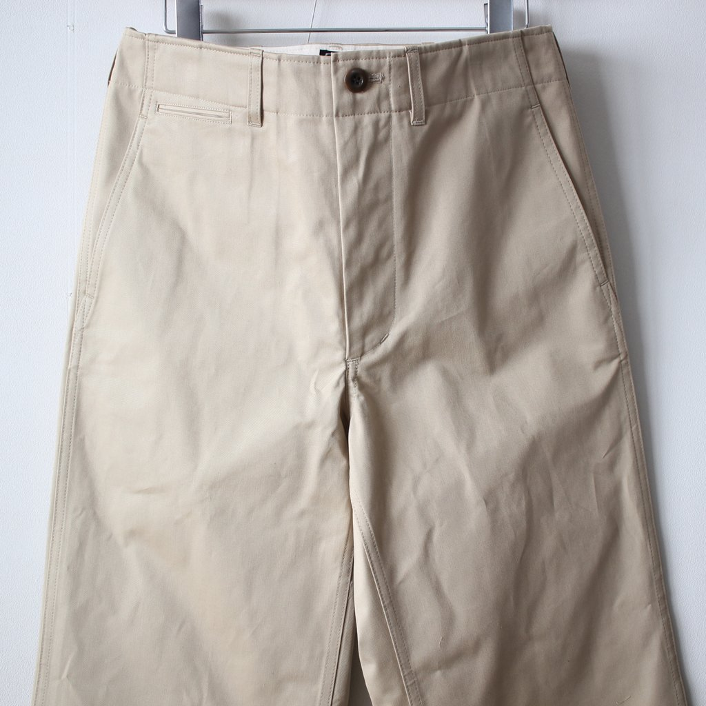 CHINO CLOTH PANTS #beige