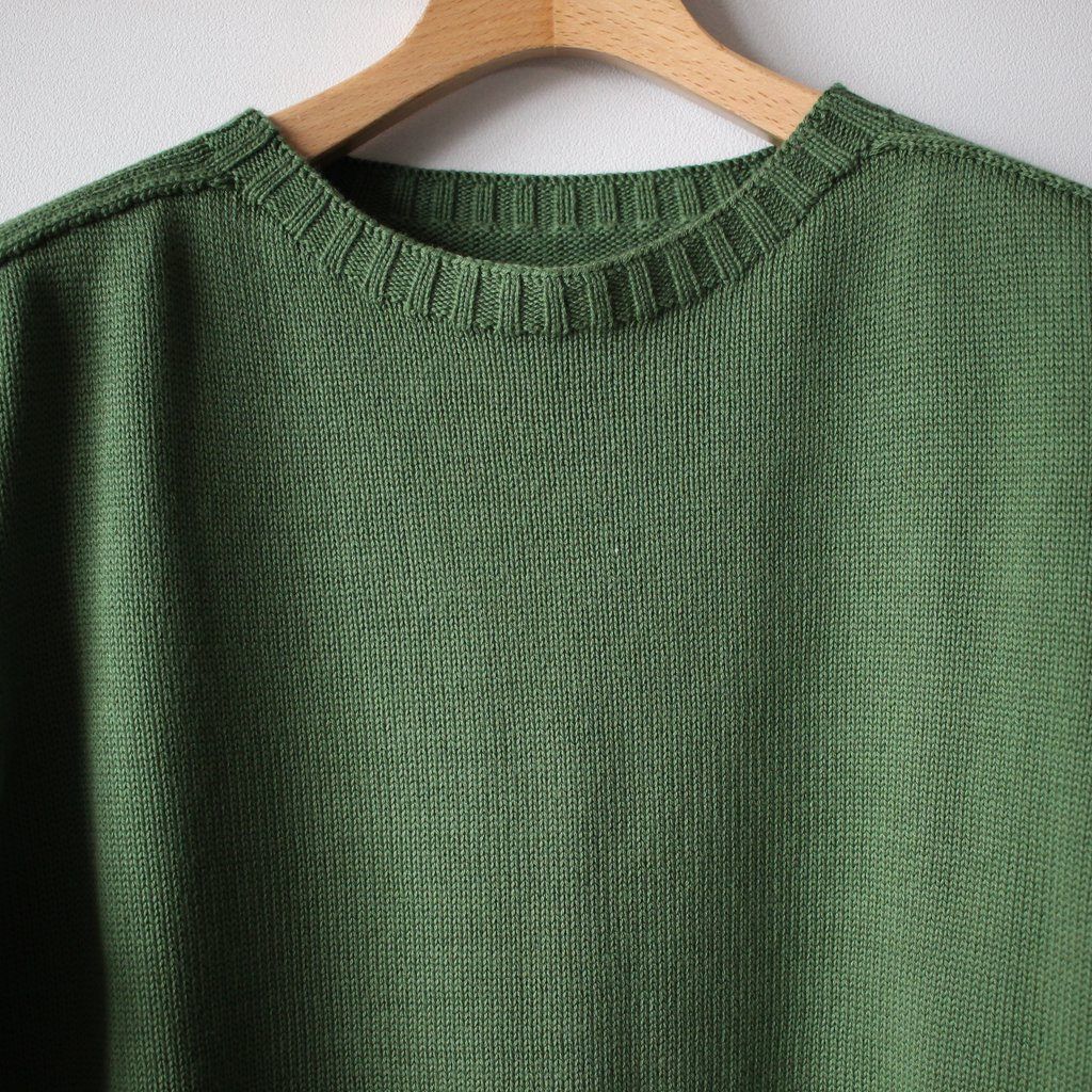 居間着 甲 Knit L/S #green