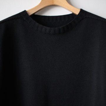 居間着 甲 Knit L/S #black