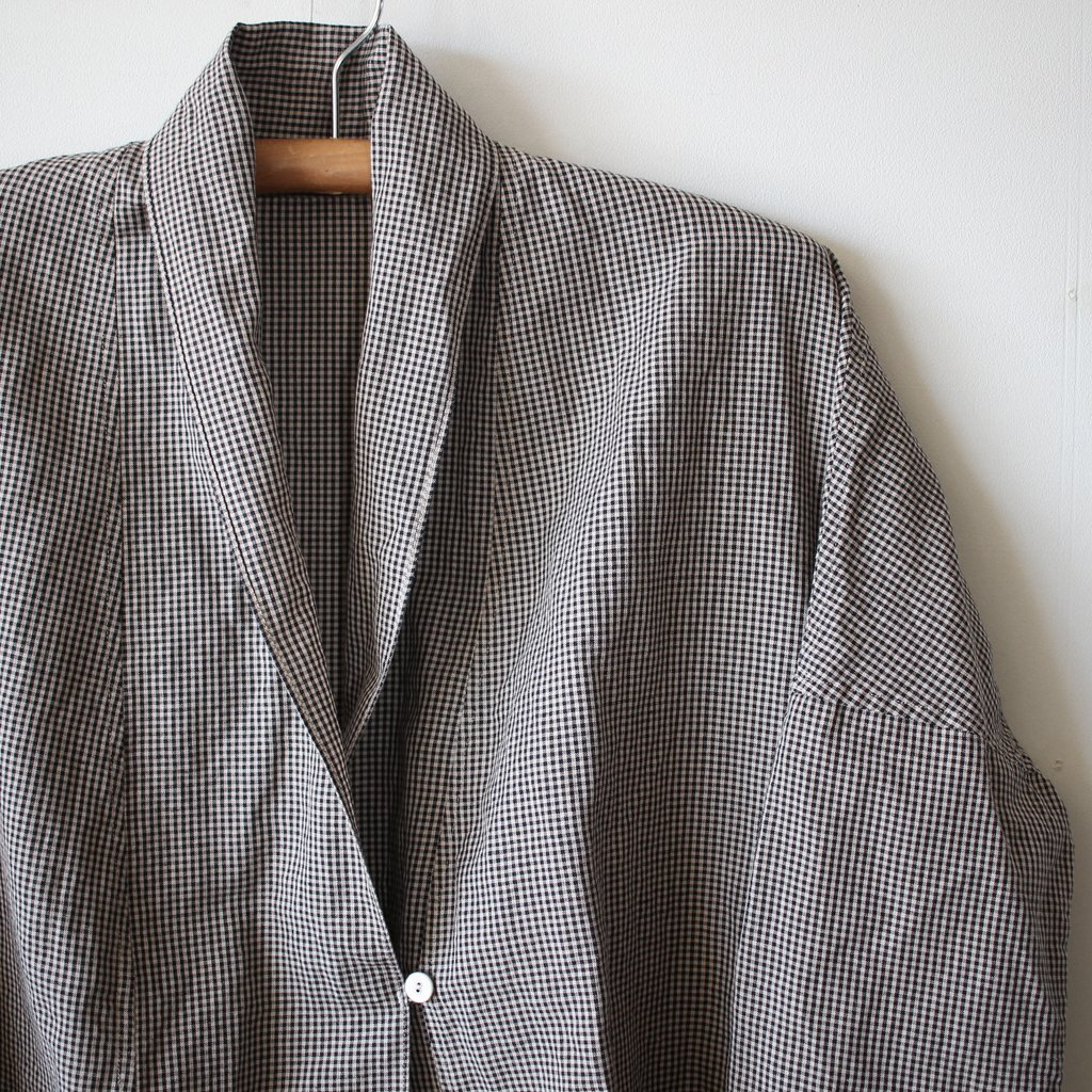 C/Lチェックシャツローブ #gingham