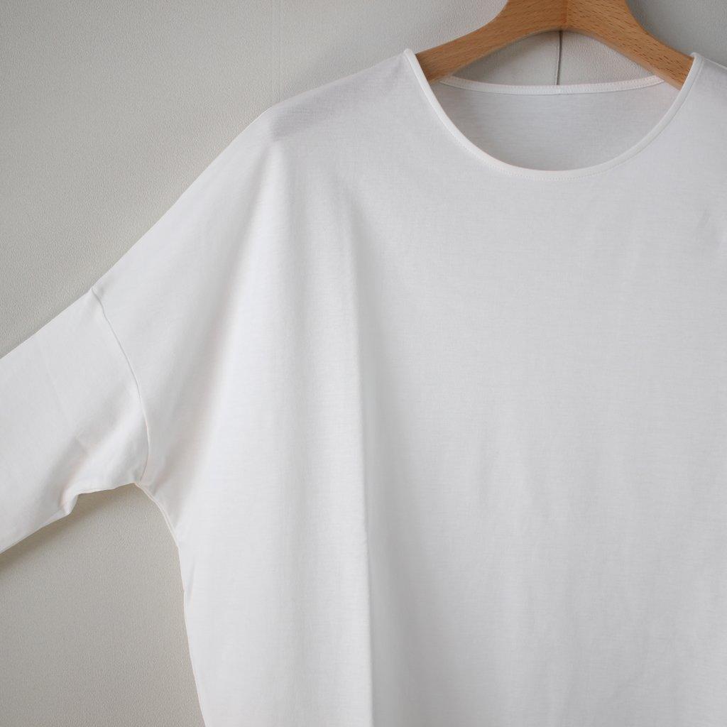 スムースドロップショルダーTシャツ #white