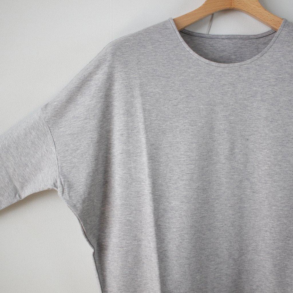 スムースドロップショルダーTシャツ #top gray