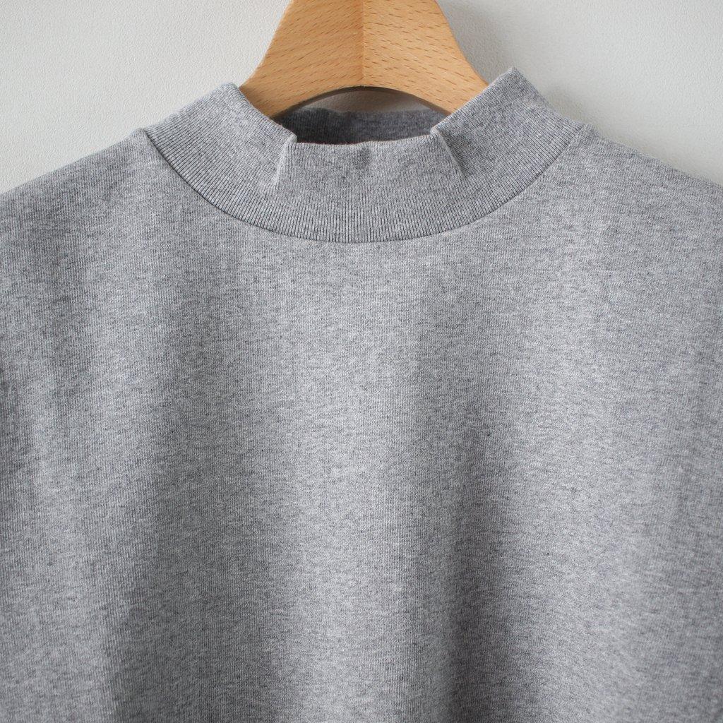 度詰め吊り天竺 MOCK NECK S/T #heather gray