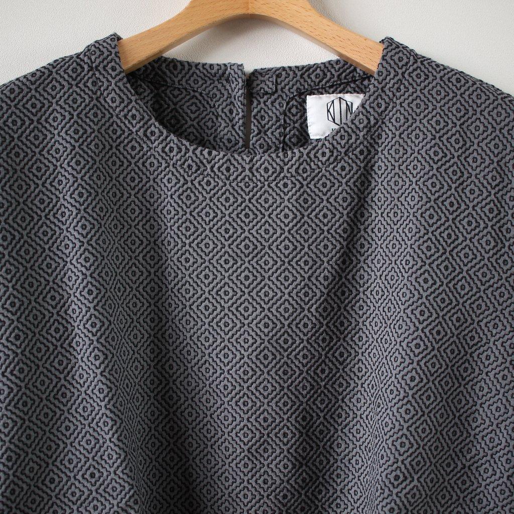 刺し子織りショートスリーブプルオーバーシャツ #gray