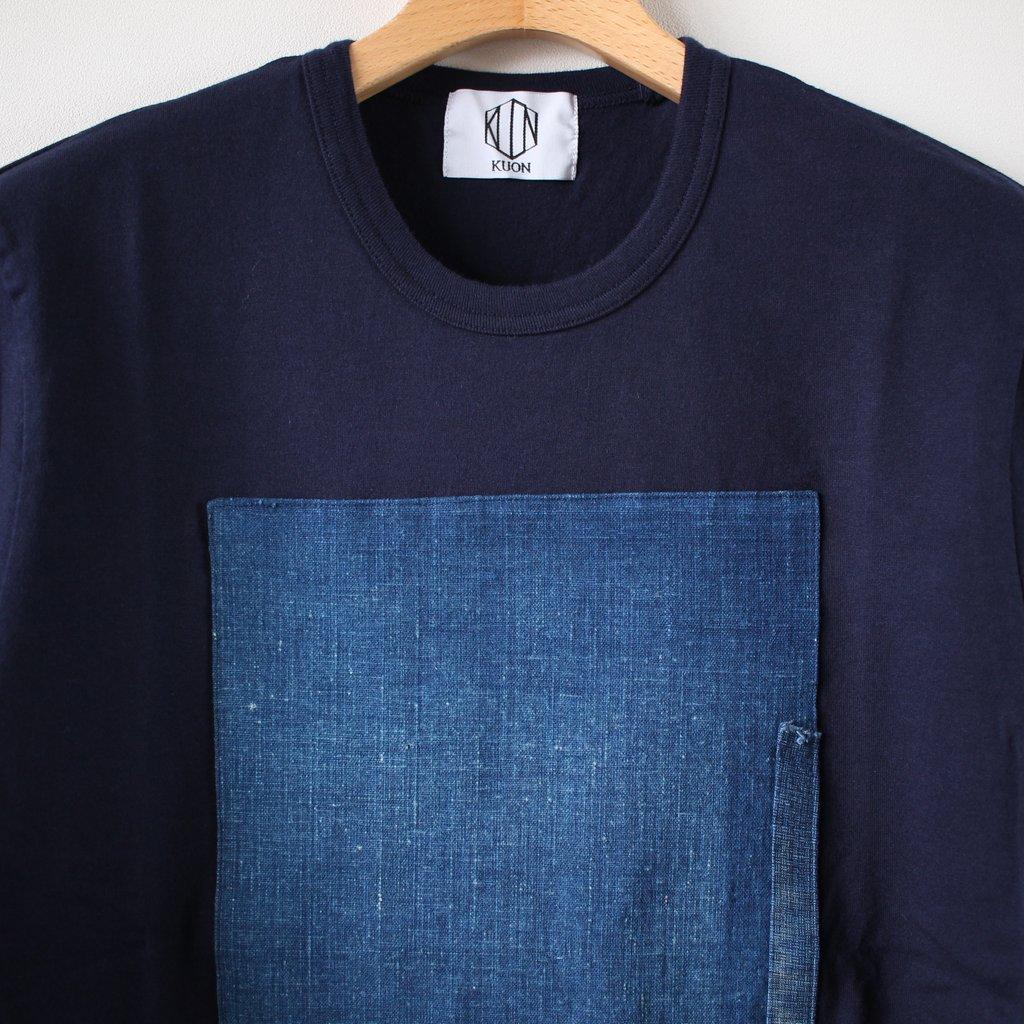 襤褸ショートスリーブTシャツ #navy M