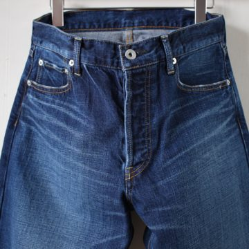 STRAIGHT DENIM PANTS (Vintage Like) #indigo