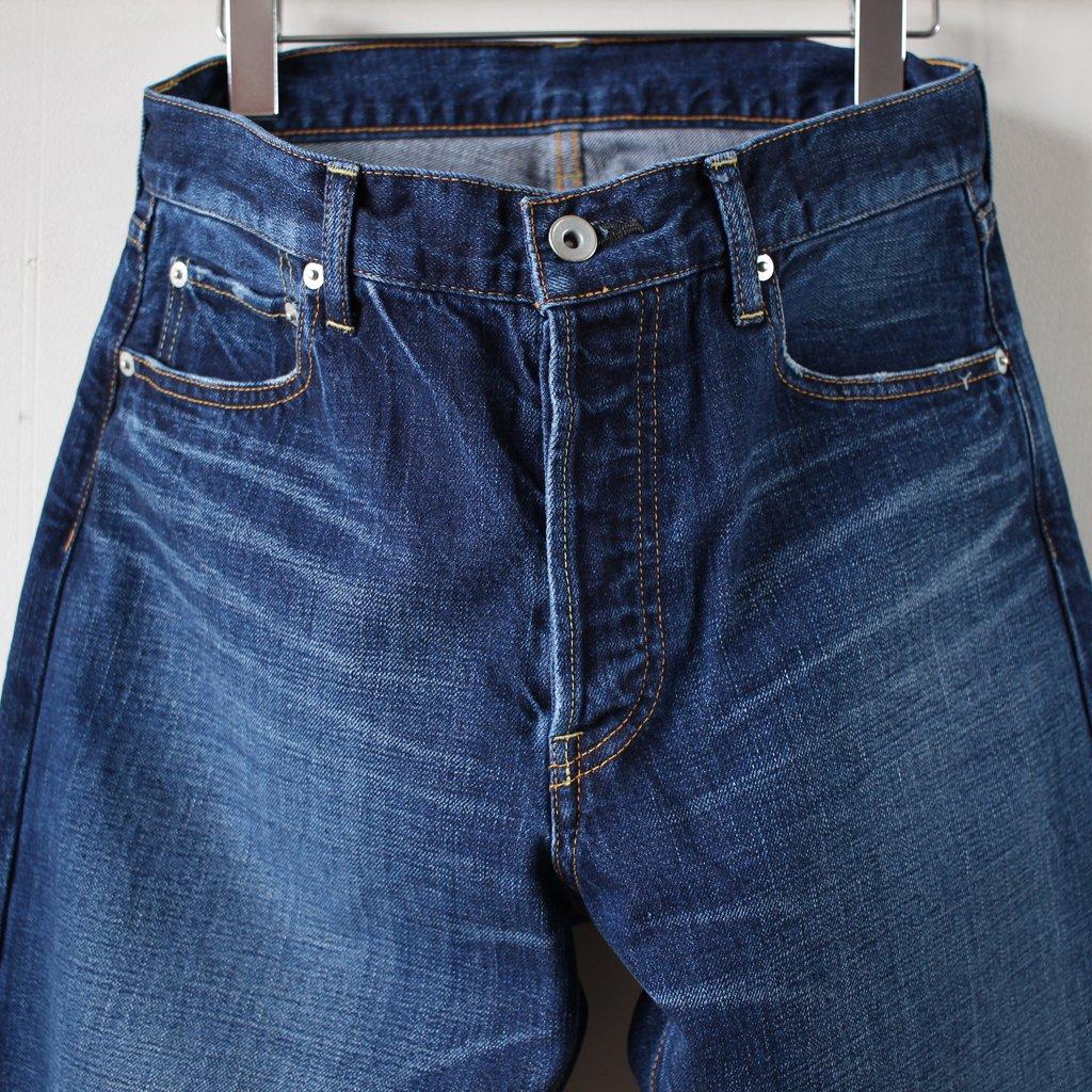 STRAIGHT DENIM PANTS (Vintage Like) #indigo