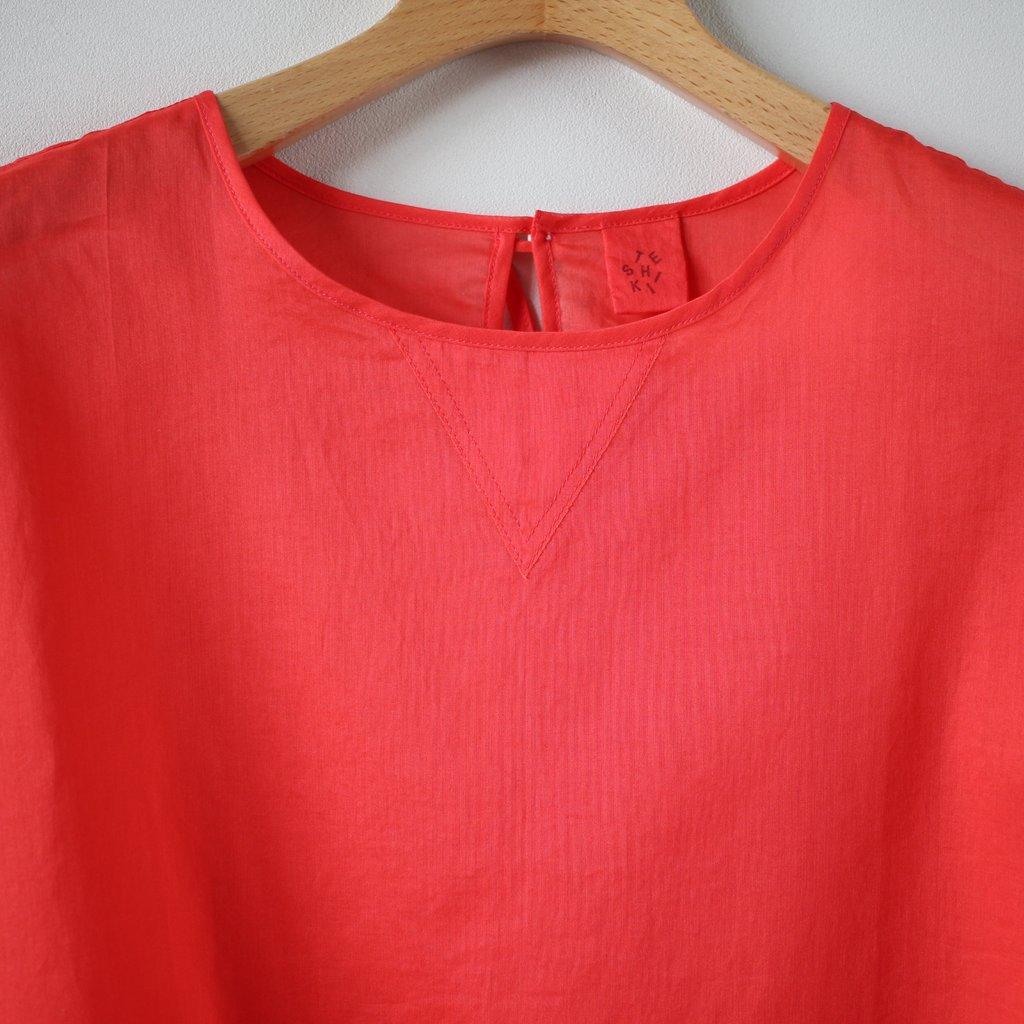 V GAZETTE BLOUSE short-sleeved #watermelon