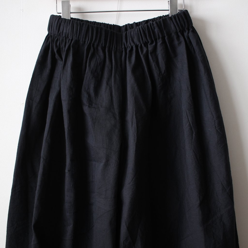 basic wide pants LONG #black 再入荷