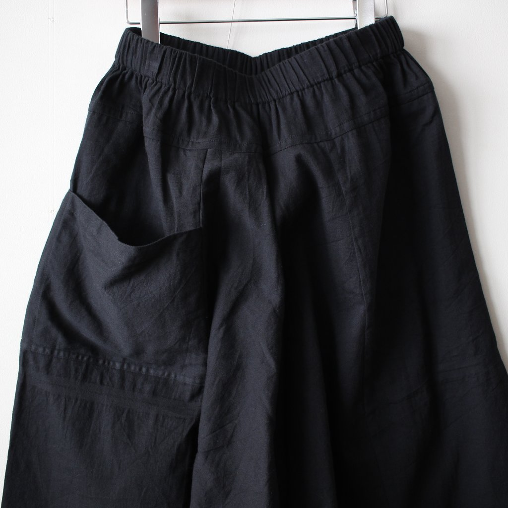 basic chotan skirt LONG #black 再入荷