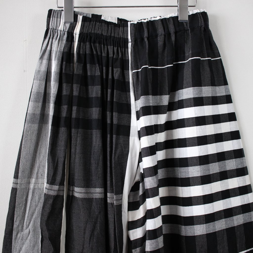 wide pants K long #black