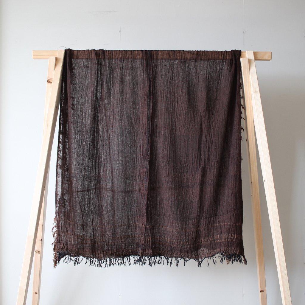basic shawl 29 BIG cotton100% #brown 再入荷