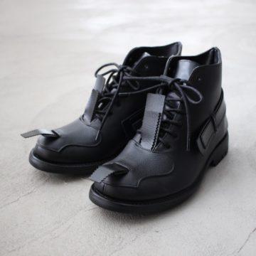 RUBBER COMBAT BOOTS #black
