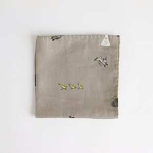 FARMERS FAMILY LINEN HANDKERCHIEF #LAUREL [no.3957]