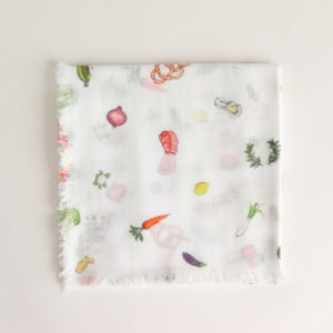 HARVEST FESTIVAL GAUZE SHAWL #WHITE [no.3980]