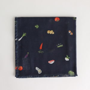 HARVEST FESTIVAL GAUZE SHAWL #NAVY [no.3980]