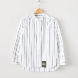 HW COLLARLESS SHIRT - ストライプ #OFF WHITE [SH-04-201612]