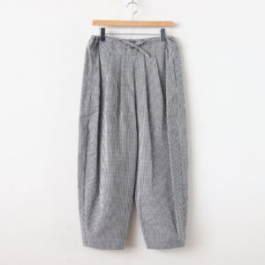 BAROUH COTTON PANTS #WHITE/BLACK CHECK [A232141PP131]