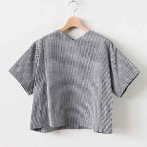 ARNAUD COTTON SHIRTS #WHITE/BLACK CHECK [A232161TS215]