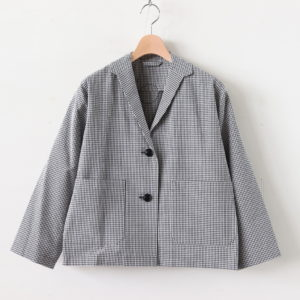 BERG COTTON JACKET #WHITE/BLACK CHECK [A232201TJ413]