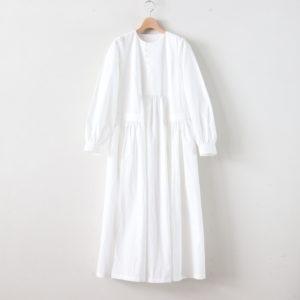 春霞むEMBROIDERY YOKE DRESS #オフホワイト [TLF-220-op004-e]