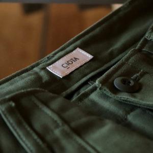 CIOTA|スビンコットン バックサテン ベイカーパンツの販売について