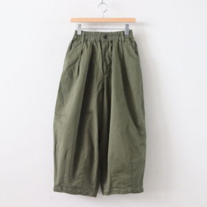 CIRCUS PANTS CHINO CLOTH GARMENT DYED #MILITARY GREEN [A11709]