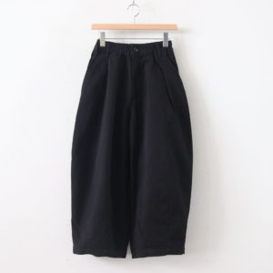 CIRCUS PANTS CHINO CLOTH GARMENT DYED #BLACK [A11709]