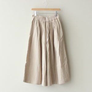 LONG CULOTTES COTTON FLANNEL #ECRU [A32008]
