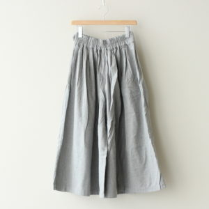 LONG CULOTTES COTTON FLANNEL #GRAY [A32008]