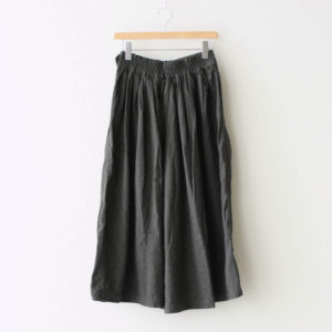 LONG CULOTTES COTTON FLANNEL #CHARCOAL [A32008]