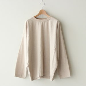 PULLOVER COTTON FLANNEL #ECRU [A32009]