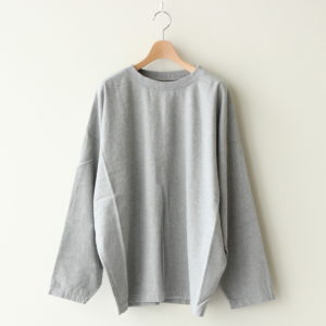 PULLOVER COTTON FLANNEL #GRAY [A32009]