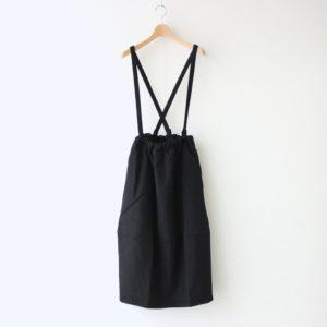 ウールギャバコクーンスカート #ブラック [202637]