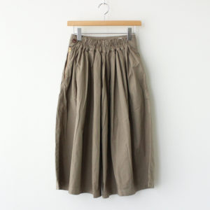 CULOTTES 40 COMBED TWILL #LIGHT OLIVE [A21501]