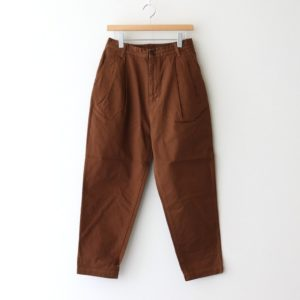 EASY EGG PANTS CHINO CLOTH GARMENT DYED #BROWN [A11913]