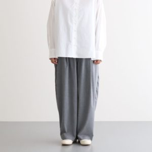 T/R WIDE EGG LONG PANTS #GRAY [A21610]