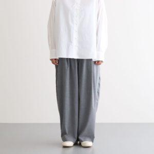 T/R WIDE EGG LONG PANTS #GRAY [A21610]