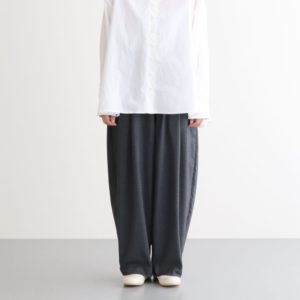 T/R WIDE EGG LONG PANTS #CHARCOAL [A21610]